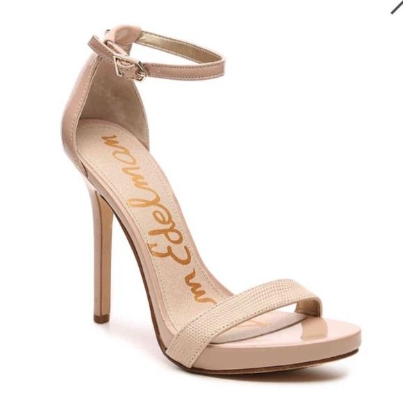 f2b1ac45fc170 Sam Edelman Eleanor Sandal Stiletto Nude Heels 11.  M 5af9b3156bf5a607638379d3